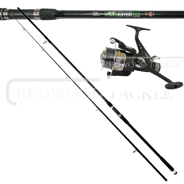 Fishing Carp Combo 12ft Carp Rod + BTR Free Spool Reel With Line