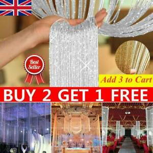 Door String Curtain Room Divider Window Tassel Hanging Beaded Curtain Fly Screen Ebay