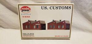 Details about MODEL POWER N SCALE BUILDING KIT U S  CUSTOMS # 1547 2  buildings