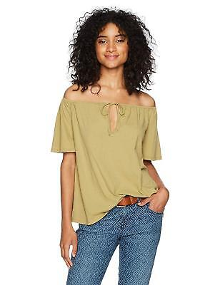 Michelle By Comune Womens Beason Off The Shoulder Rib Top