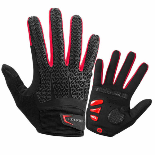 ROCKBROS Full Finger Cycling Gloves Gel Bike Long Sports Touchscreen Gloves