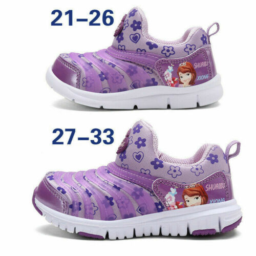 Kids Boys Girls Gift Shoes Cartoon Design Infant Soft Slip On Traniners Sneakes