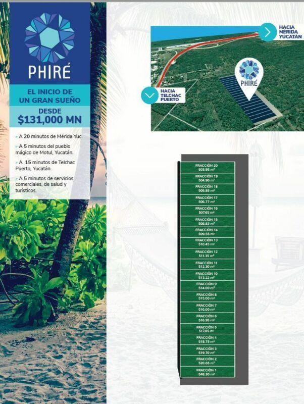 Terrenos de inversión en Motul Yucatan México