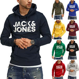 Jack /& Jones Herren Hoodie Kapuzenpullover mit Print Pullover Hoody Logo Casual
