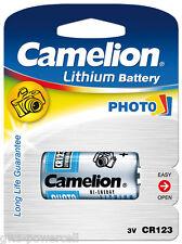 10 x Camelion CR123 CR123A CR17345 Lithium Photo 3 Volt Blister Neu & OVP