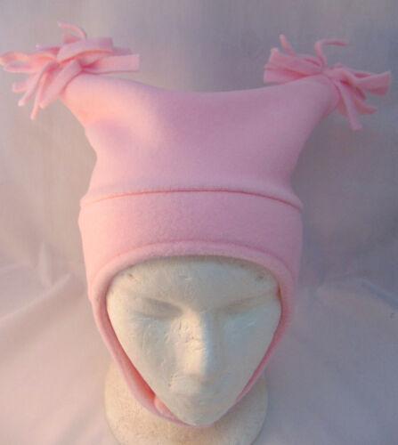 NWT GAP KIDS Pink Pussy Pom Pom Fleece Girls Hat Chin Closure Infant Sizes