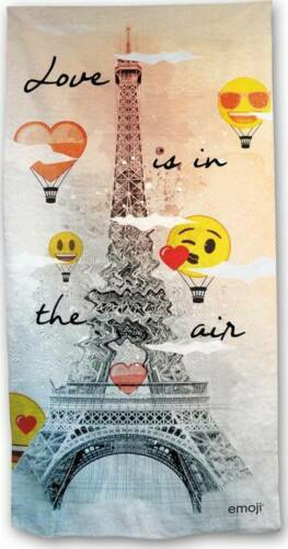 Emoji Eiffel Tower Love Beach Towel