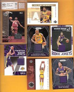 Details About Lebron James Rookie Card 10 Magic Johnson Ingram Shaq Kuzma Ball Rc Jersey Laker