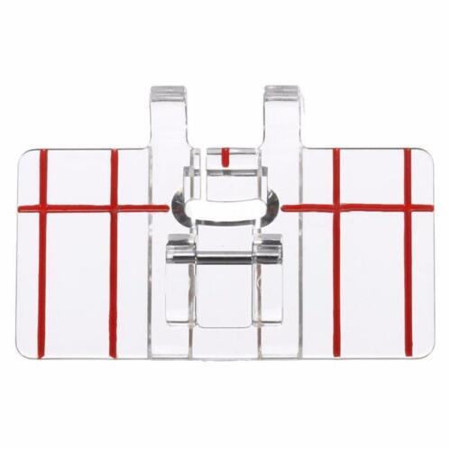 Presser Fit  Domestic Clear Plastic Parallel Stitch Foot Sewing Machine New C