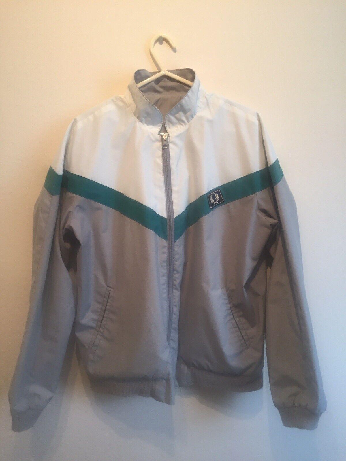 Frot PERRY Größe M-L männer's Rare Vintage 70's 80's Reversible Bomber jacke Coat
