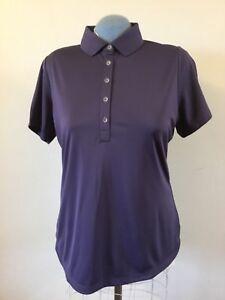 Women-039-s-Nike-Golf-Dri-Fit-Polo-Style-Shirt-Short-Sleeve-Purple-Size-Large
