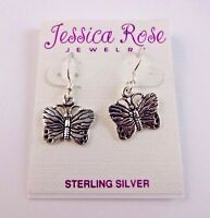 Butterfly Sterling Silver Dangle Earrings