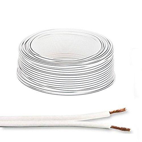 Car HiFi Audio 2x 0.75mm White 18AWG Multi-Strand Loud Speaker Cable for Home