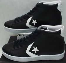 Black White 157472c sku Mens Converse All Star Street Mid LEATHER Sneakers