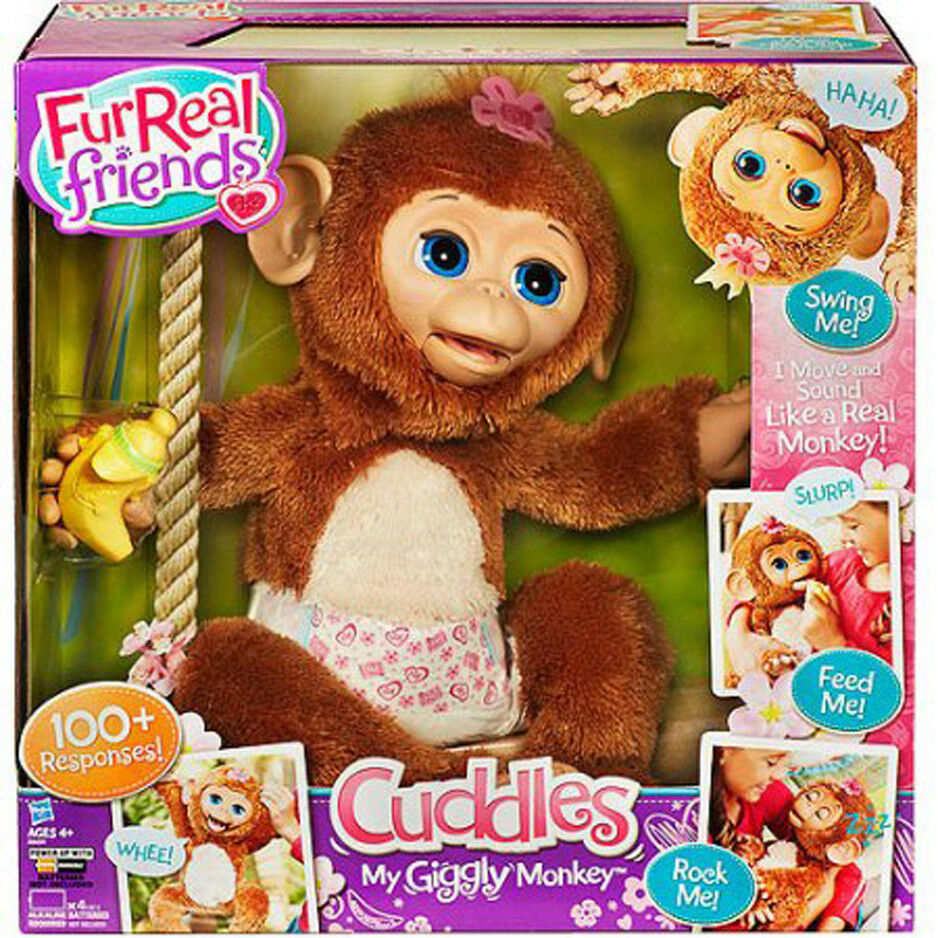 FurReal Friends Cuddles My Giggly Monkey Pet Animal - Large Full Size - Sold Out