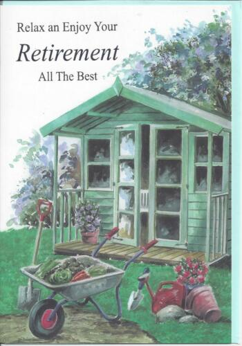 Retirement Card Summer House Garden NEW Quality Male