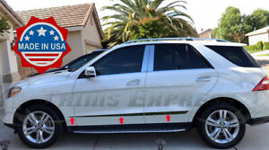 2012-2017-Mercedes-ML-2016-2019-GLE-6Pc-W166-Flat-Body-Side-Molding-Trim-Accent
