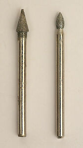 Details about Set of 2 Conical Diamond Grinding Burr 1/8