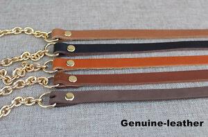 Chain-amp-Genuine-LEATHER-Shoulder-Crossbody-Handbag-Purse-Strap-Replacement-SALE