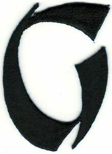 """2 """" Grand Noir Asiatique Style Avant Monogramme Lettre G Broderie Patch"""