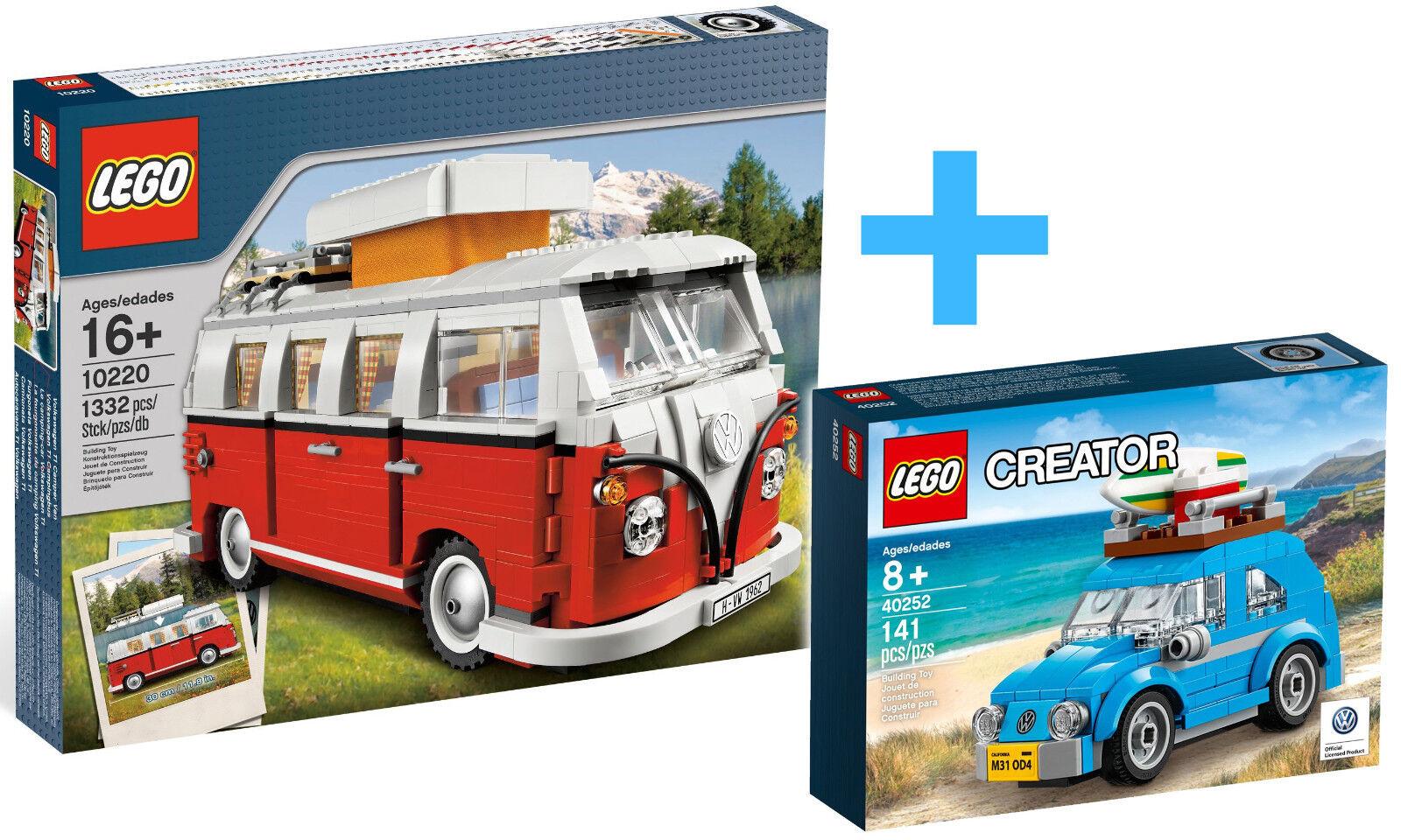 LEGO creator EXPERT 10220 Volkswagen T1 Camper Van +  40252 Mini Beetle NEUFnouveau  magasin vente sortie