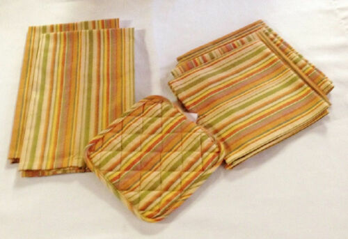 Tea Towel 8 Piece Set Linen