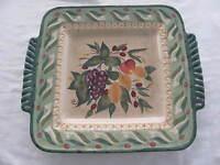Certified International Pamela Gladding Chianti Large Square Platter 18 1/2