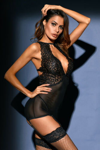 Suspender Pinup Guepiere Glamour Belt Original Black Babydoll Sexy 58Ywqw