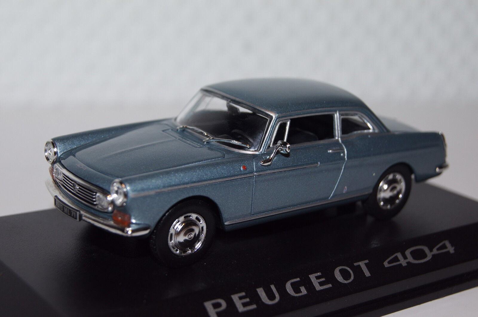 Peugeot 404 coupé bleu métallisé 1 43 NOREV NOUVEAU & OVP 474434
