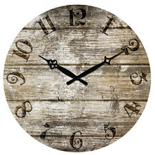 """15"""" Large Vintage Rustic Retro Antique Shabby Chic Wall Clock Home Kitchen Decor"""