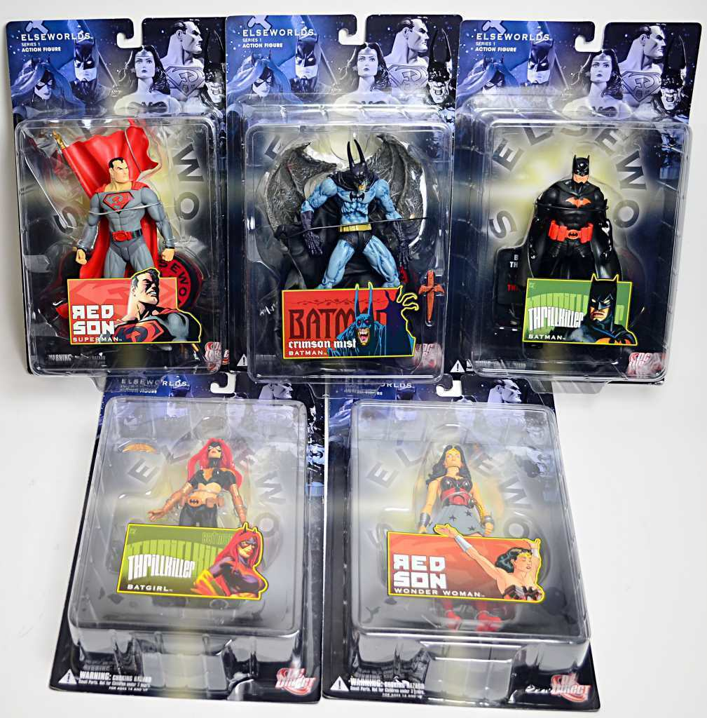 ELSEWORLDS Action Figurines Series 1 complete Set of 5 DC Direct
