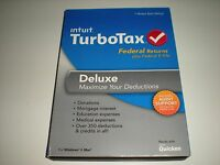 Turbotax 2013 Deluxe. Federal Only + Federal E-file. Ugly Sealed Box.