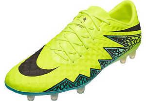 best cheap 678c2 95624 Image is loading Nike-Hypervenom-Phinish-II-FG-Volt-Hyper-Turquoise-