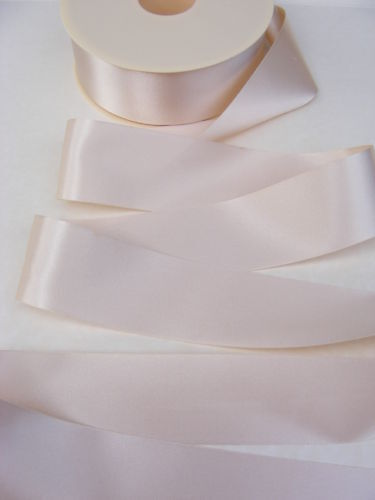 3 metres of CREAM double satin ribbon in various widths