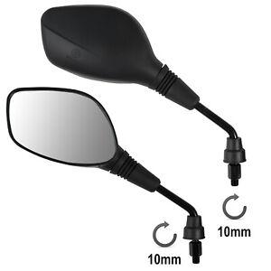 Coppia-Specchietti-Retrovisori-Scooter-Moto-ATV-Nero-DX-SX-10-mm-M10