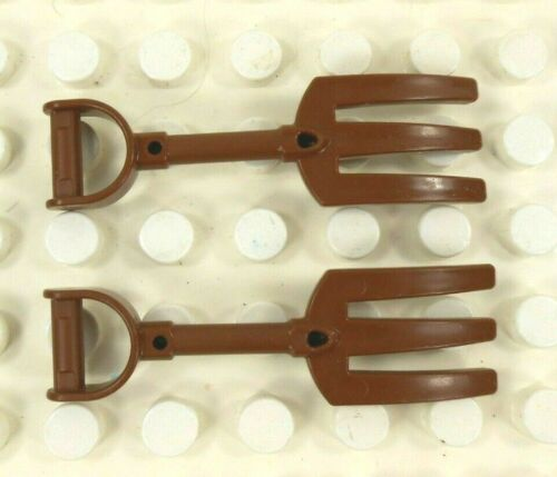 2 Lego Duplo Figure Pitch Fork Brown