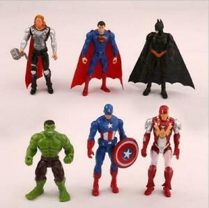 6pc Avengers Figures Super Hero Incredible Action Figures Toy Doll Collection