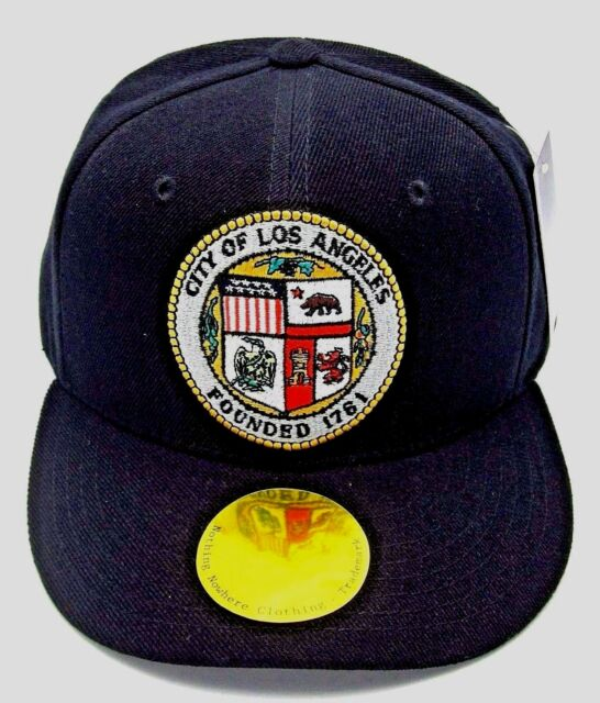 LOS ANGELES Snapback Cap Hat LA City Caps Hats Black OSFM Adjustable NWT 61fe91a4837