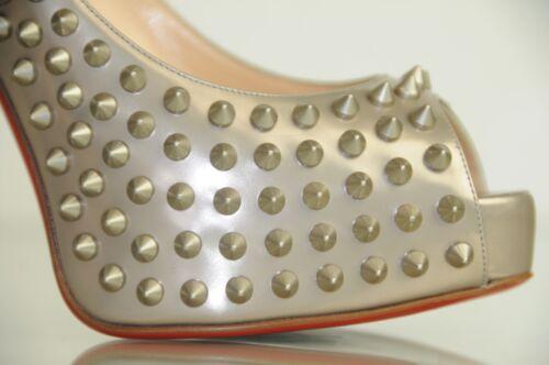 Schuhe 8 Beige 5 38 120 Plataforma Nueva Spikes Christian Louboutin BWdrCoxe