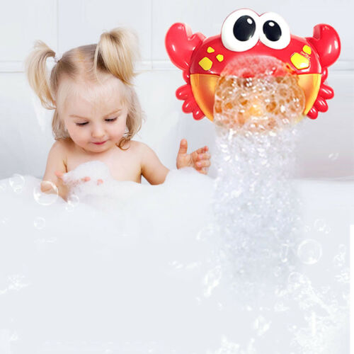 Crabs Baby Kids Bath Toy Funny Bubble Maker Pool Swimming Bathtub Soap Machine