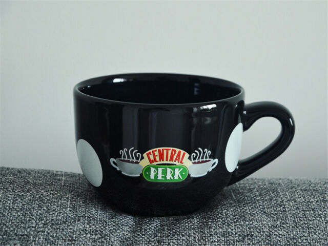 Tv Series Friends Central Perk Mug Coffee Cup Black Mouth Bowl Cups Ceramics