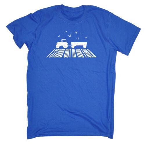 STO QUI fuori nel mio campo T-shirt Fattoria Contadino Agricoltura Trattore Regalo Di Compleanno Divertente