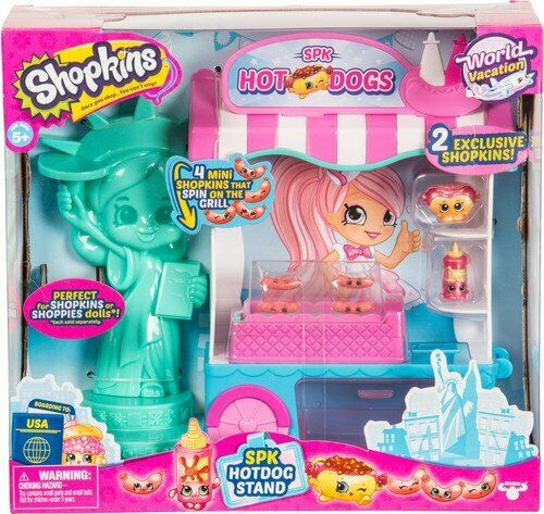 Shopkins SPK New York City Hotdog Stand jeu avec Exclusive Mini Shopkins Jouet