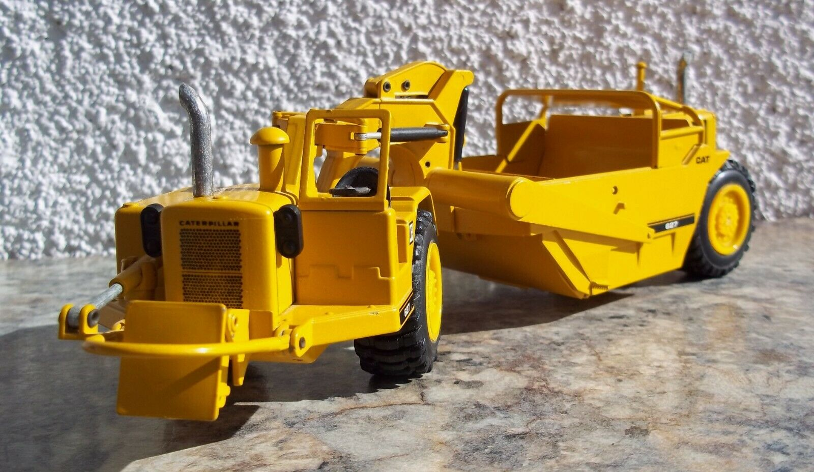 Jahr Caterpillar NZG 627 Tractor Scraper Modell West Germany 1 50 Push Pull