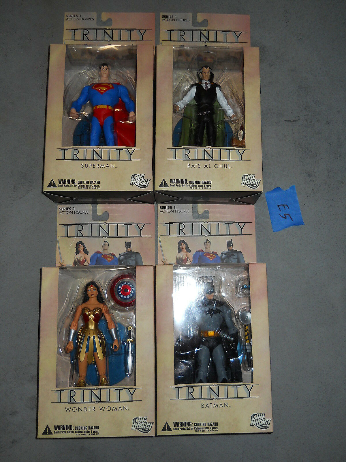 E5_16 DC Direct Lot TRINITY FULL SET Superman Batman Wonder Woman Ra's Al Ghul