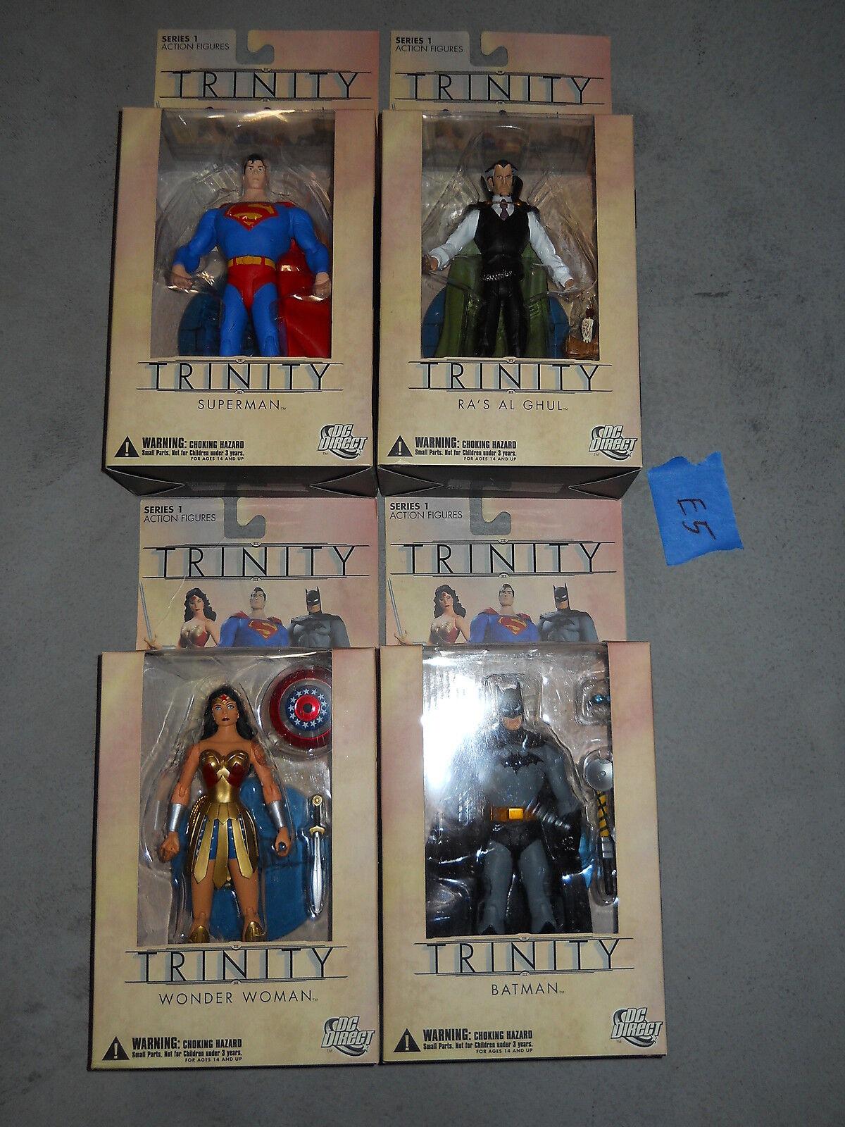 E5_16 DC Direct Lot TRINITY FULL SET Superman Batman Wonder Woman Ra's Al Ghul