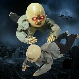 Animated Crawling Baby Zombie Dolls Scary Haunted House Halloween Decorations