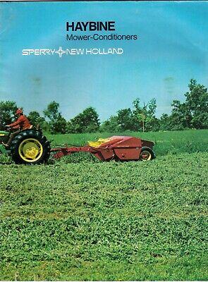 vintage 80s new holland sperry haybine  farm brochures lot
