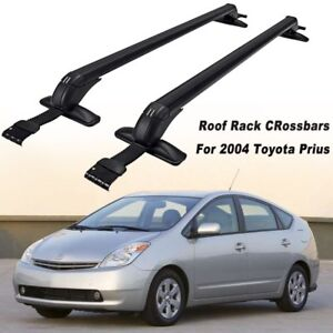 Prius Roof Rack >> Details About Roof Rack Cross Bar Smooth Side Rail Luggage Carrier For Toyota Prius Aluminum