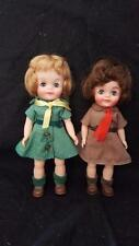 VINTAGE EFFANBEE OFFICIAL GIRL SCOUT BROWNIE & SCOUT FLUFFY DOLL 1965